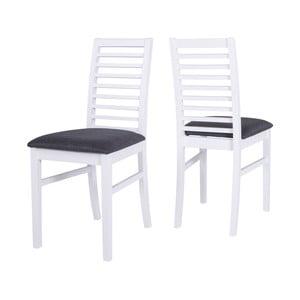 Białe krzesło z konstrukcją z drewna figowca sprężystego Canett Gabriel