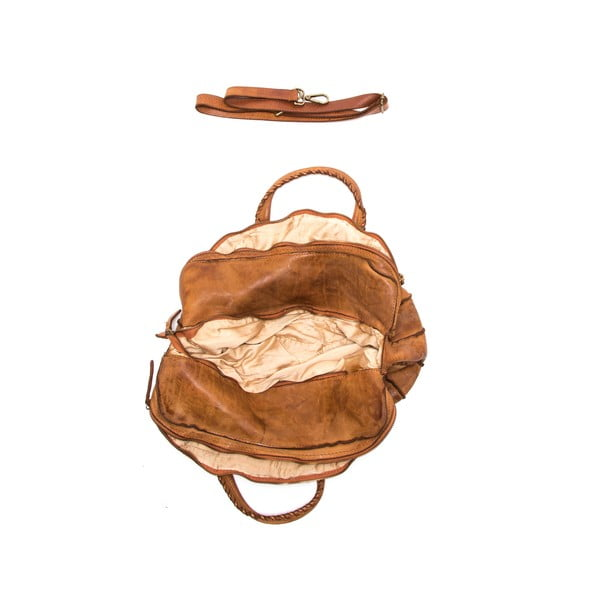 Skórzana torebka Anna Luchini 6 Cognac