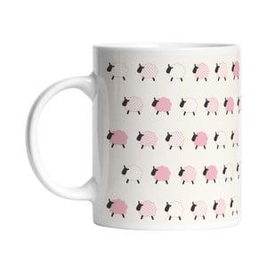Ceramiczny kubek Pink Sheeps, 330 ml