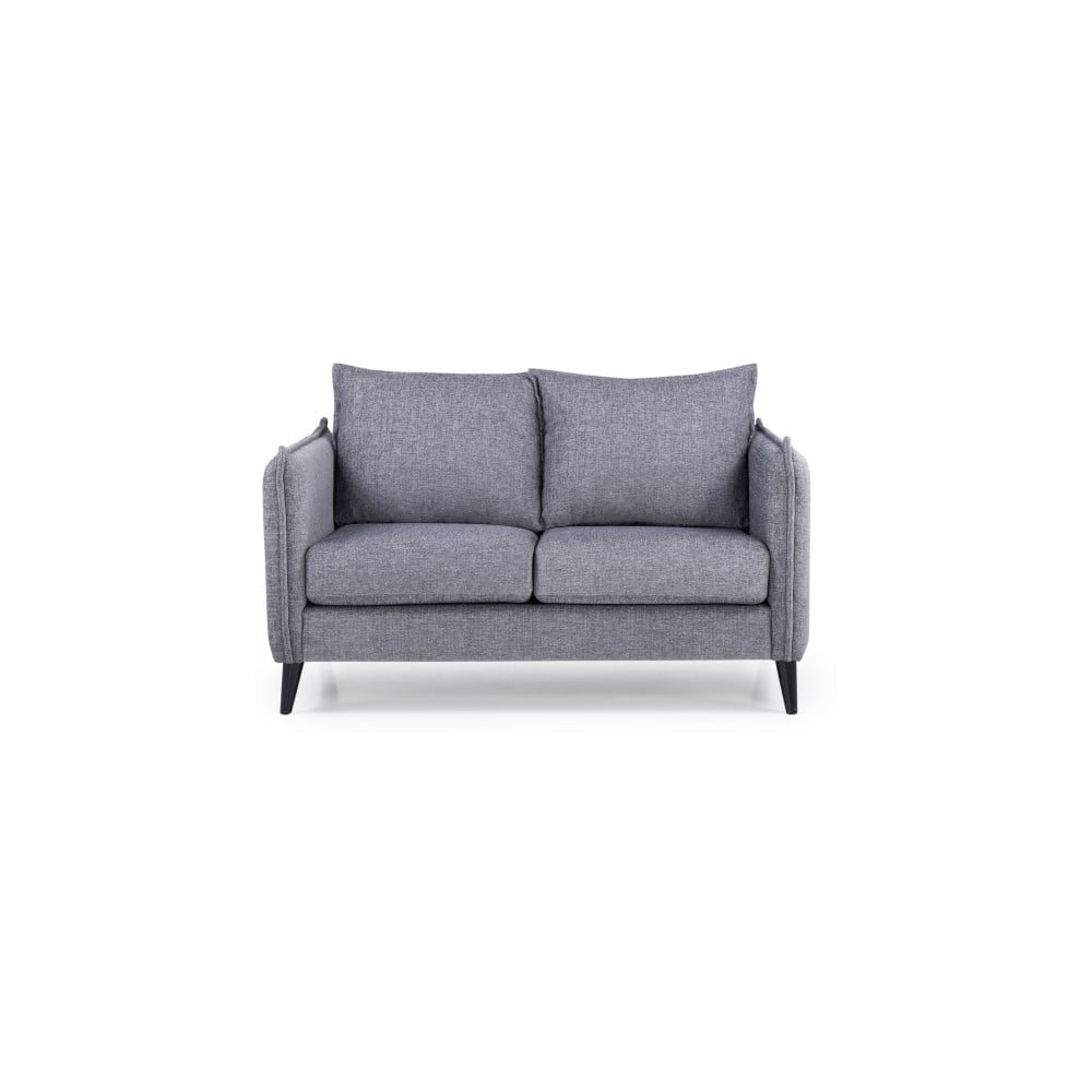 Jasnoszara sofa 2-osobowa Softnord Leo