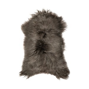 Ciemnoszara skóra owcza z długim włosiem Ganna, 90x50cm