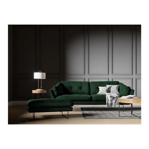 Butelkowozielona 3-osobowa sofa z aksamitnym obiciem Windsor & Co Sofas Gravity