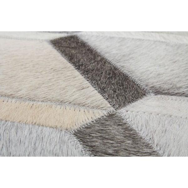 Dywan skórzany Revolution Grey, 116x174 cm