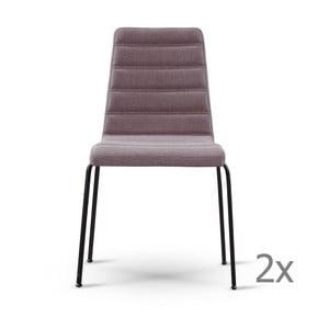Zestaw 2 szarobrązowych krzeseł z czarnymi nogami Garageeight