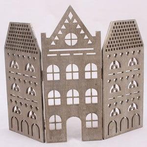 Dekoracyjny brązowy domek