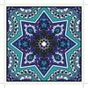 Zestaw 2 mat stołowych Blue India Decor, 20x20 cm
