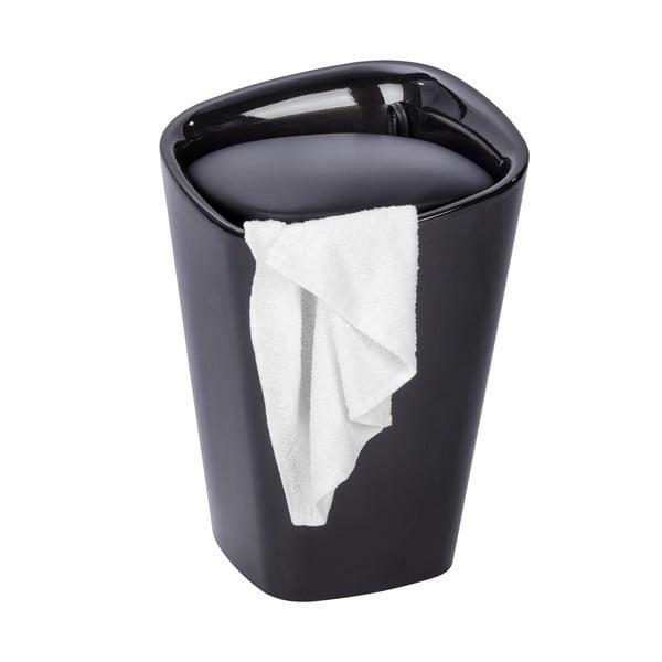 Czarny kosz na pranie itaboret wjednym Wenko Candy Square, 20 l