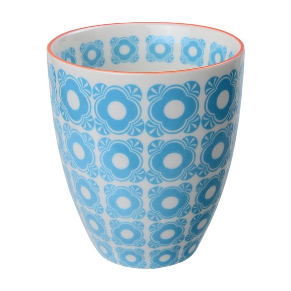 Porcelanowy kubek Flowers Blue, 8,7x9,8 cm