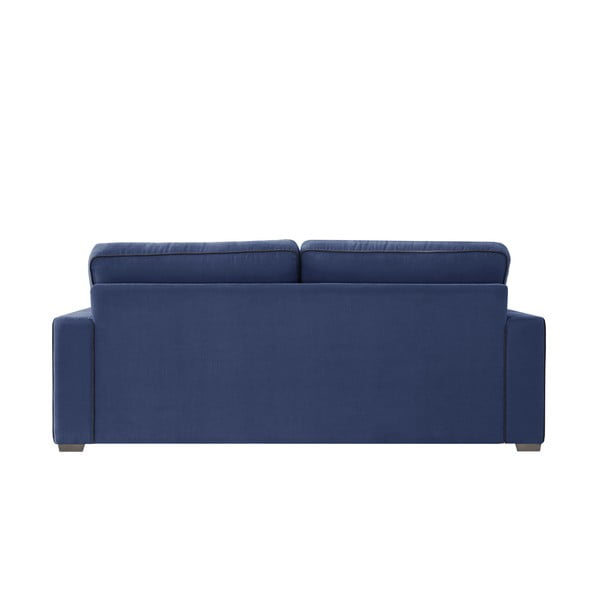 Sofa trzyosobowa Jalouse Maison Serena, granatowa