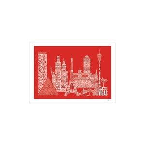 Plakat Las Vegas Red&White, 50x70 cm