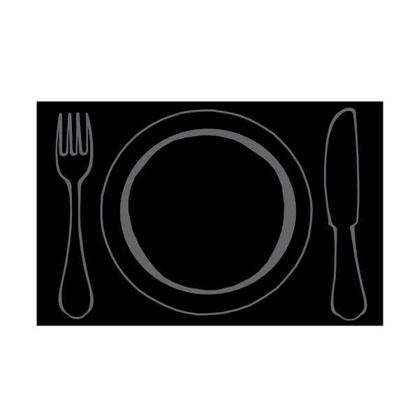 Mata stołowa Talerz i sztućce