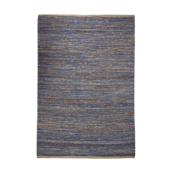 Dywan z konopi Coastal Natural/Blue, 160x230 cm