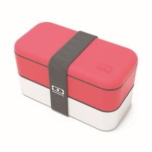 Czerwono-biały pojemnik na lunch Monbento Original