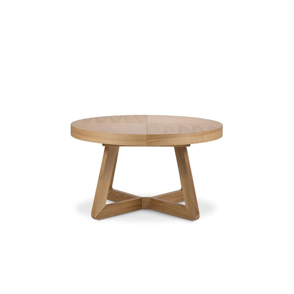 Stół rozkładany z nogami z drewna dębowego Windsor & Co Sofas Bodil, ø 130 cm