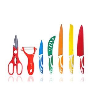 Komplet 5 noży, obieraczki i nożyczek Hippo