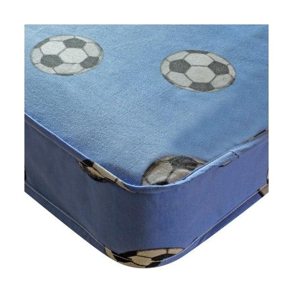 Materac dziecięcy Football Single Blue, 190x90x15 cm