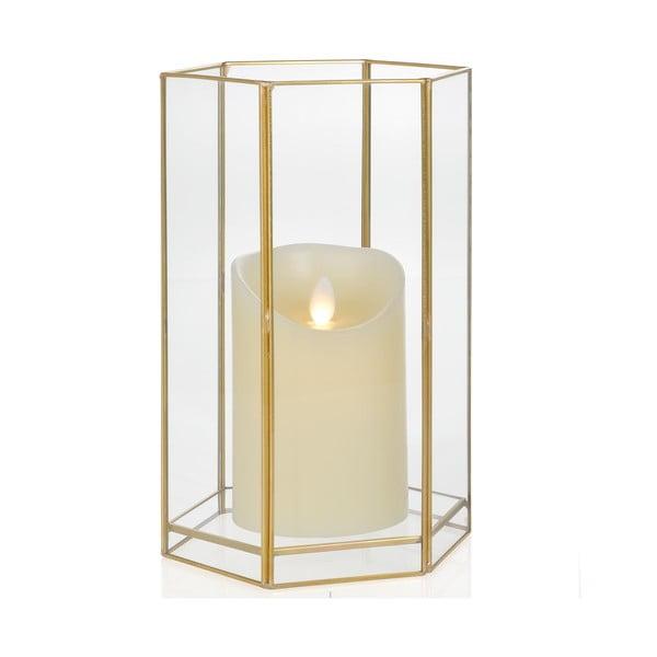 Świecznik Gold Hex, wysokość 22,8 cm