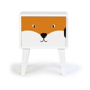 Dziecięca drewniana szafka nocna Little Nice Things Fox