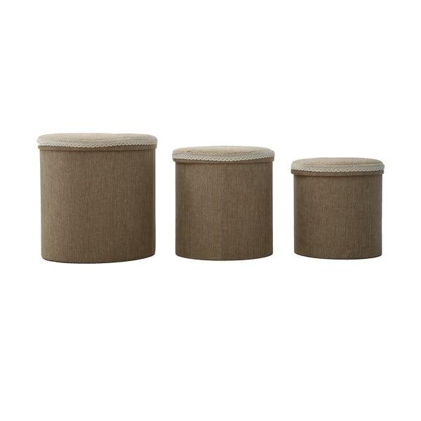 Zestaw 3 koszyków Cestone, brązowe