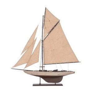 Dekoracja: statek Sail Boat Beige, 71 cm