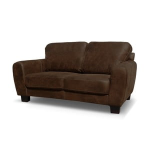Sofa dwuosobowa Jethro, czekoladowy brąz