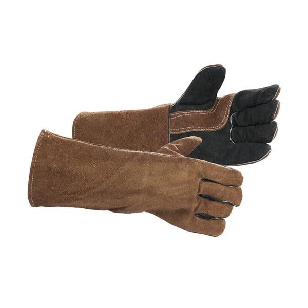 Skórzane rękawice do grillowania, 2 szt