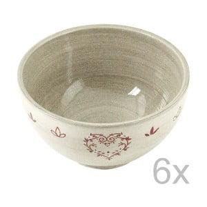 Zestaw 6 misek ceramicznych Heart