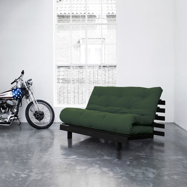 Sofa rozkładana Karup Roots Wenge/Botella
