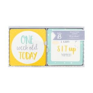 Zestaw 24 kart dekoracyjnych - pierwszy rok życia Busy B Baby