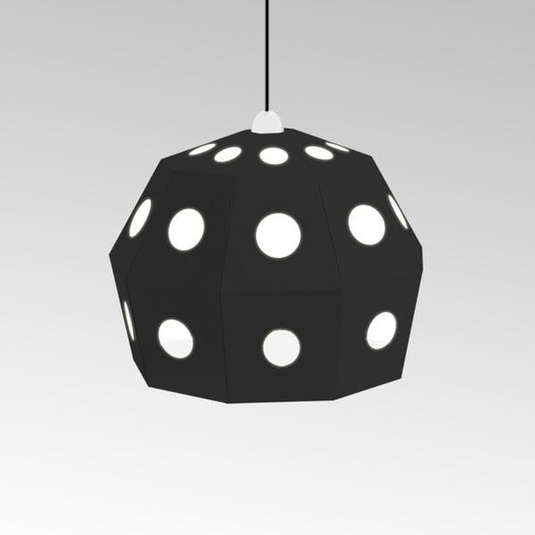 Kartonowa lampa Uno Fantasia B Black, z czarnym kablem