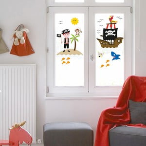 Naklejka na okno Piraci