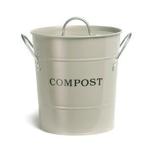 Kremowy kompostownik z pokrywką Garden Trading Compost, 3,5l