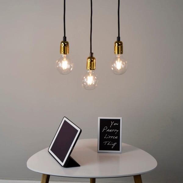 Złoto-czarna   potrójna lampa Bulb Attack Uno