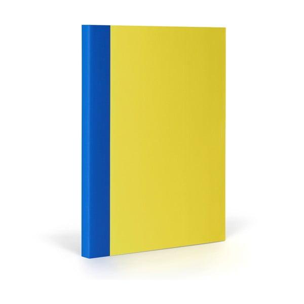 Notes FANTASTICPAPER XL Lemon/Blue, w kratkę