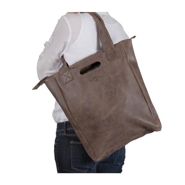 Skórzana torebka Marilla Cupboard Brown