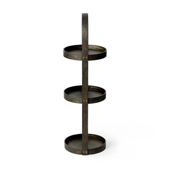 Stojak/szafka łazienkowa Wireworks Round Caddy Dark, 3 półki