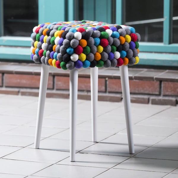 Ręcznie wykonany kulkowy stołek Ikra