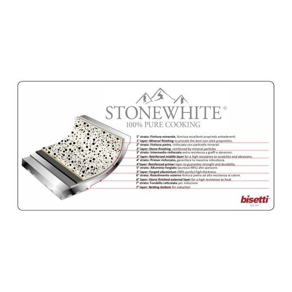 10-częściowy zestaw garnków z pokrywkami i białymi uchwytami Bisetti Stonewhite