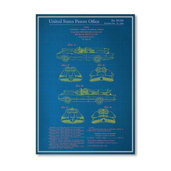Plakat Batmobile, 30x42 cm
