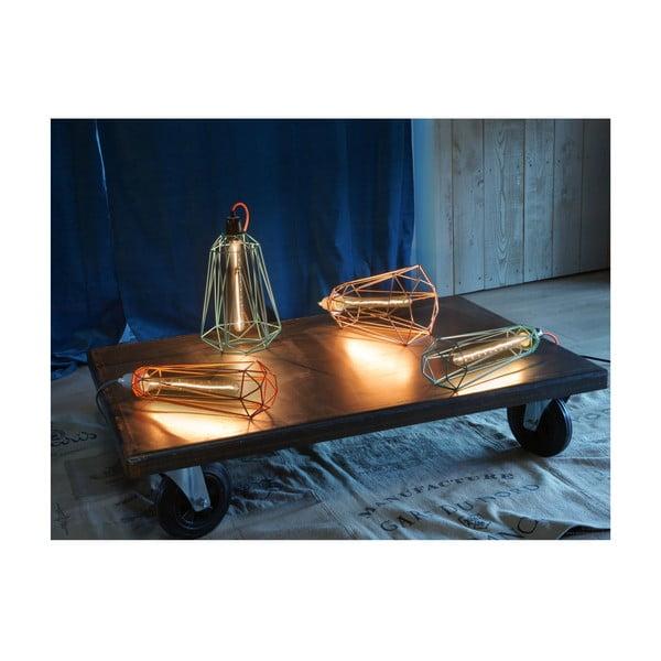 Pomarańczowa lampa wisząca z szarym kablem Filament Style Diamond #1