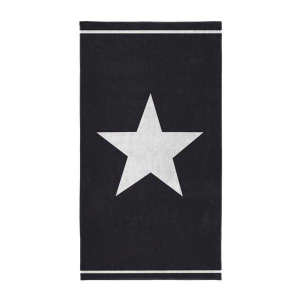 Ręcznik Star 100x180 cm, czarny