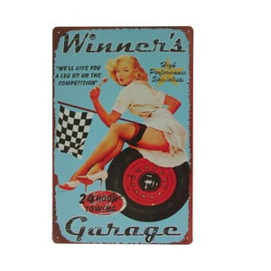Tablica Winners Garage, 20x30 cm