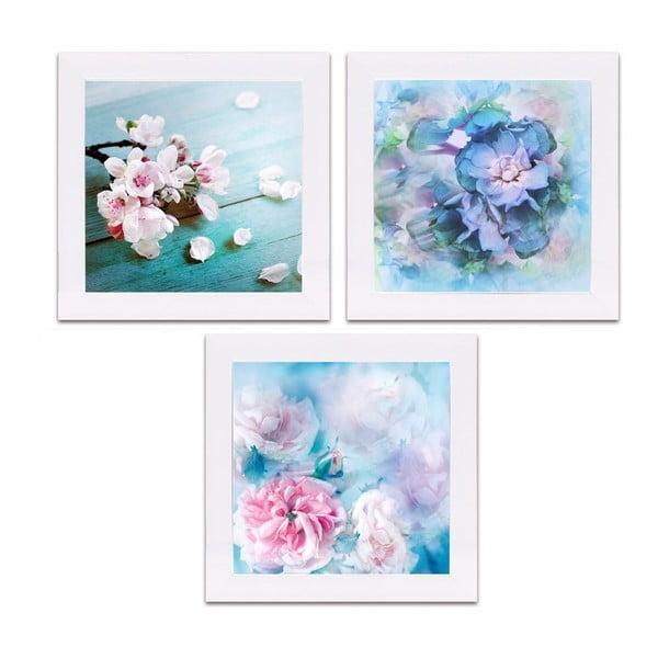 Komplet 3 obrazków Spring Flowers