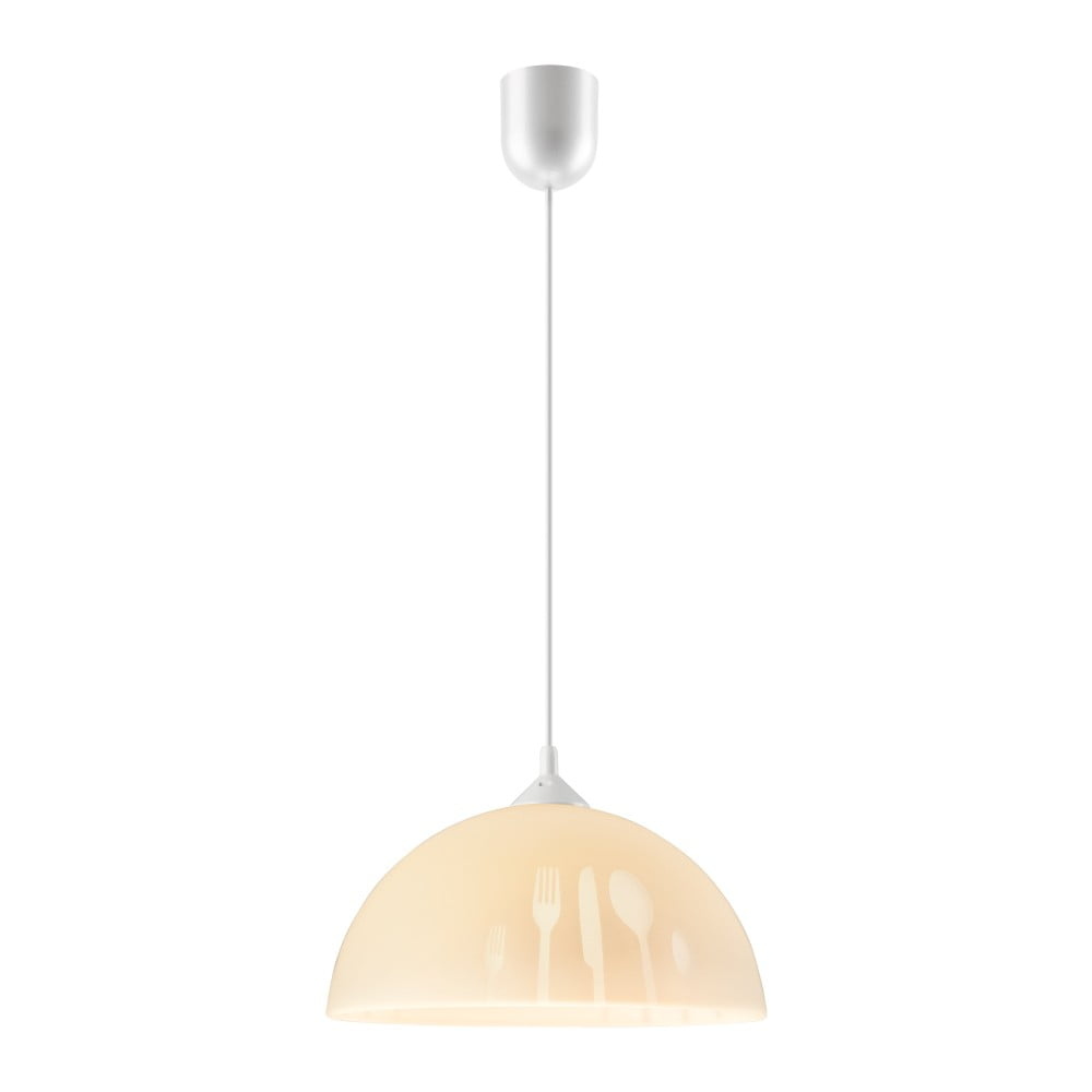 Beżowa lampa wisząca Lamkur Forks