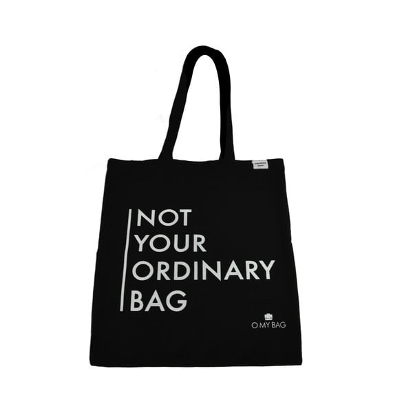 Torba bawełniana O My Bag Not Your Ordinary, czarna