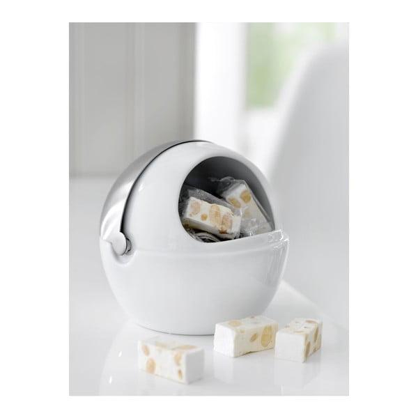 Porcelanowy pojemnik na cukier z wieczkiem Steel Function Milano