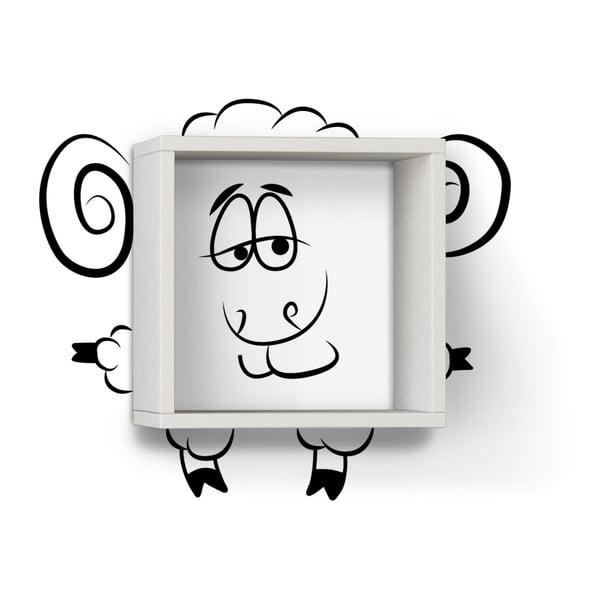 Półka z naklejką Sheep White