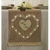 Dekoracja ślubna z lampką LED Heart