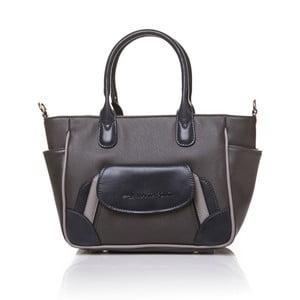 Skórzana torebka do ręki Marta Ponti Pocket Deux, szara/beżowa