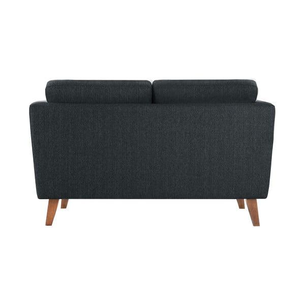 Antracytowa sofa dwuosobowa Jalouse Maison Elisa